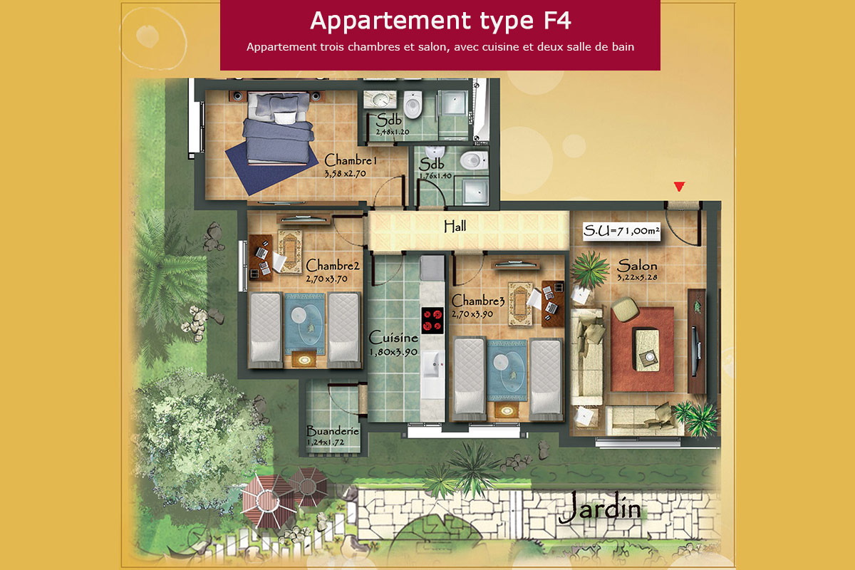 Appartement type F4